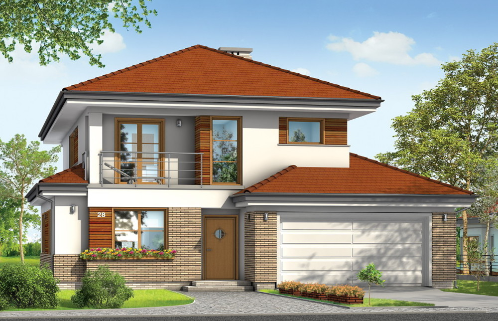 """Проекты двухэтажных домов : проект двухэтажного дома """"кассио."""